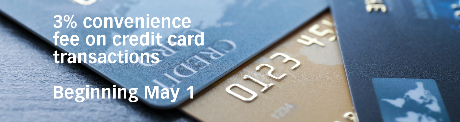 Credit card surcharge effective